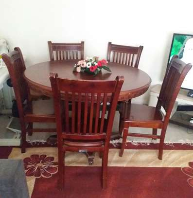 NH.BAY Furniture Dark Brown Color Table & Chair