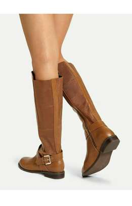 Buckle Decor Knee High Boots image 3