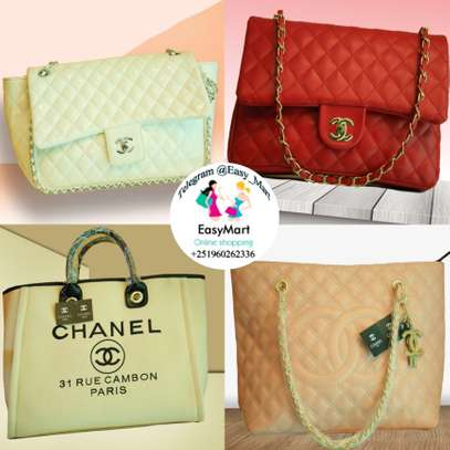 Assorted Colors Channel Handbags