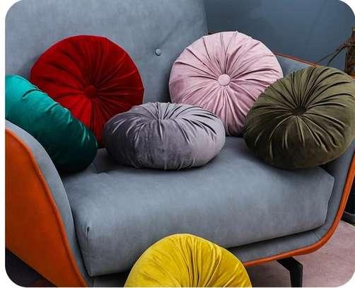 pumpkins round velvet pillows image 1