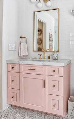 Bathroom Cabinet With Sink And Mirror image 1