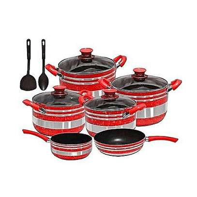 Signature Non Stick Cooking Pots Red