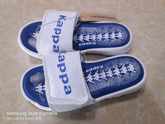 White And Blue New Fashion Kids Kappa Shoes