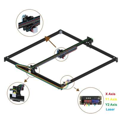 CRONOS 100*100cm 15W/30W/40W Laser Engraving/Cutting Machine image 3
