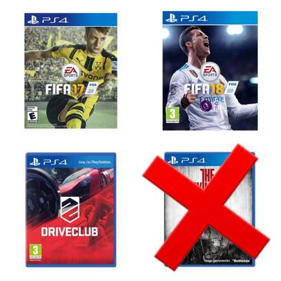 Fifa 17&18 and Driveclub image 1