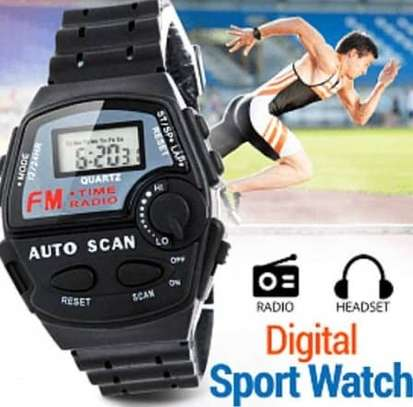 FM Auto Scan Radio Watch with Stereo Earphone image 5