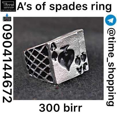 A's of Spades Ring