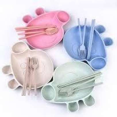 Wheat Straw Cutlery Set Social Designed for Kids