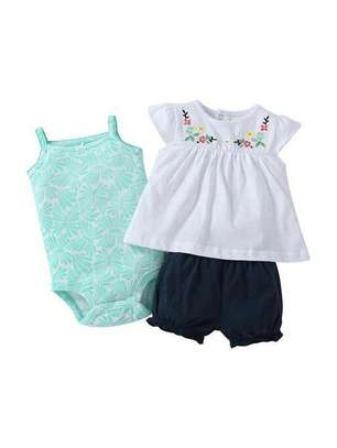 Black White And Blue New Fashion Kids Full Dress