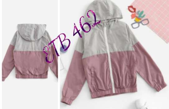 Girls Two Tone Hooded Windbreaker Jacket