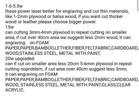 FEUNGSAKE 100*150cm 5.5W/15W/20W/30W Laser Engraving Machine image 2