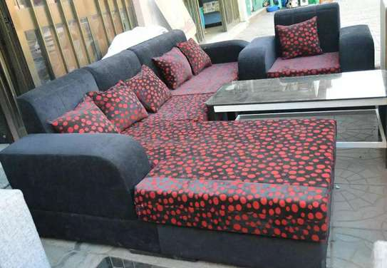 Sofa With Table(Black with Red)