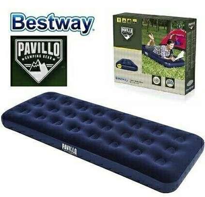 Blue Pavillo single Air Bed