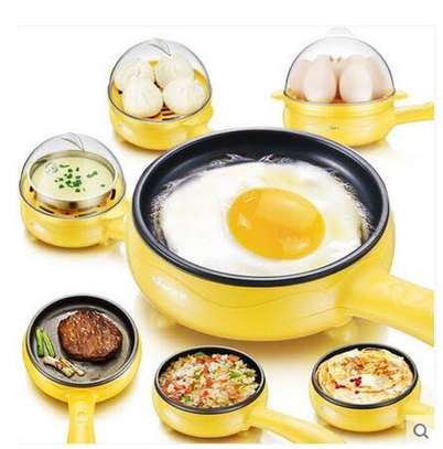 2 in 1 Multi Functional Electric 7 Egg Boiler Roaster Heater Fryer/Egg
