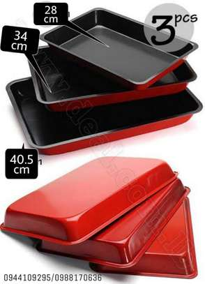 3pcs Non-Stick Oven Cooking Roasting Rectangle Bread Pans