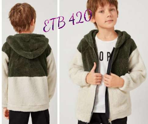 Boys Two Tone Raglan Sleeve Teddy Jacket