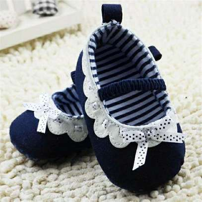 Blue And White Kid's Shoes