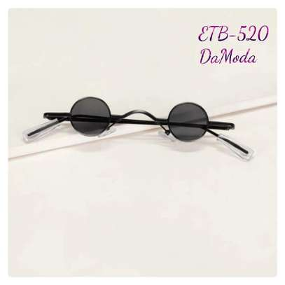 Round Frame Fat Lens Sunglasses
