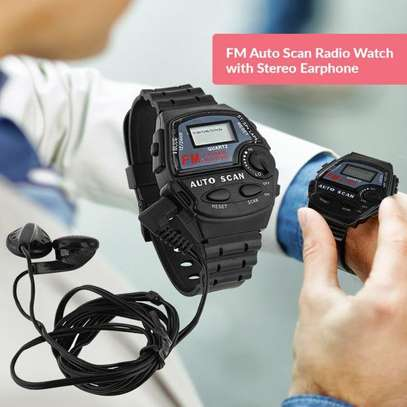 FM Auto Scan Radio Watch with Stereo Earphone image 2