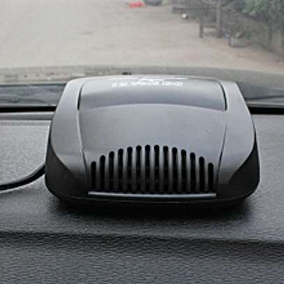 DC 12V Car Auto Vehicle Electronic Heater Fan(Black)