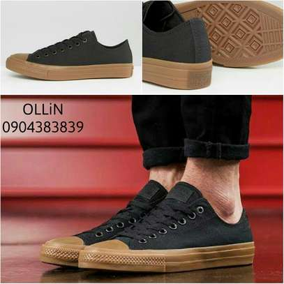 Converse Men Shoes(Black Gum Sole ) image 1