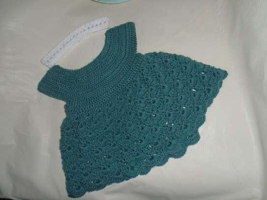 Green Crochet Baby Girl Dress