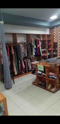 Complete clothing shop display hangers n shelfs(used)