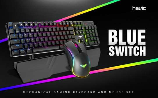 Havit Mechanical Keyboard and Mouse Combo RGB Gaming 104 Keys ?Blue Switches