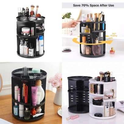 360 Rotating Makeup Organizer image 1