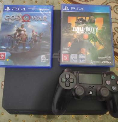 PS4 with God of war and Call of duty black ops 4