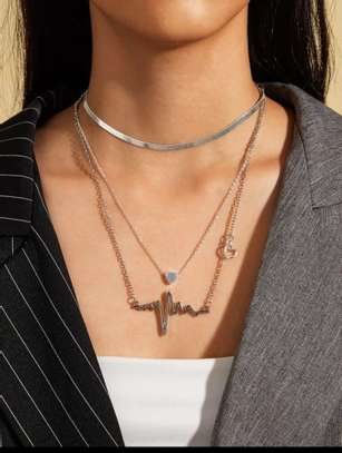 Heartbeat Shaped Necklace image 2