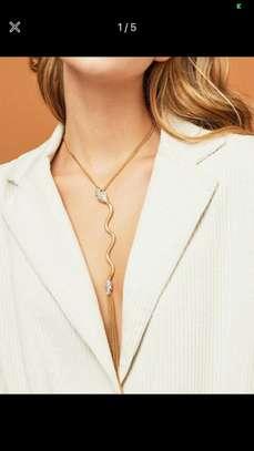 1 Pcs Snake Fringe Chain Necklace image 1
