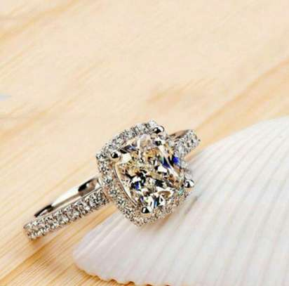 Beautiful Silver Engagement Ring