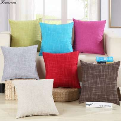 40 x 40 Decorative Pillows Solid Plain Red Blue Green Gray filled Cushion Bed Sofa Chair Seat image 4