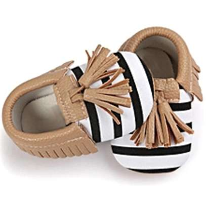 Baby Crib Tassels Bowknot Shoes Toddler image 1