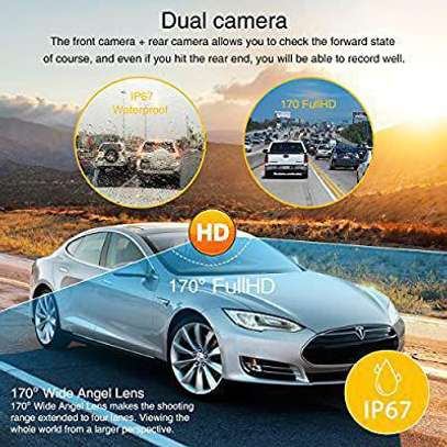 Dual car Dashboard  Front and Rear Camera