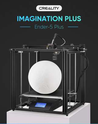 CREALITY Ender-5 Plus 3D Printer; Dual Y-axis Motors; Glass Build Plate; Power off Resume Printing; Masks Enclosed Structure image 1