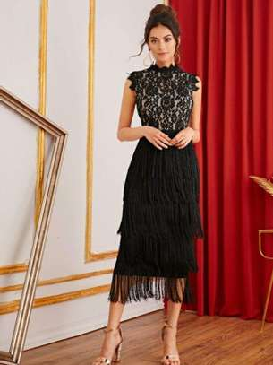 Black New Fashion Women Brand Full Dress