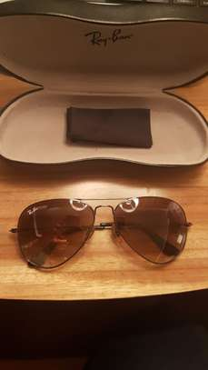 RAY BAN SUNGLASSES AVIATOR ( BROWN )