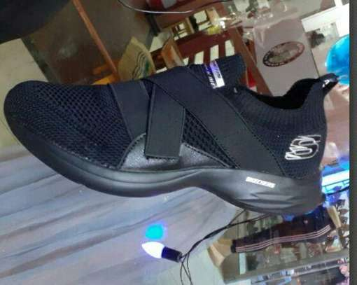 Black Sketchers Shoes image 1