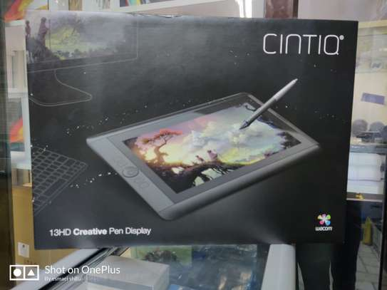Wacom Cintiq 13HD Interactive Pen Display DTK1300  -13.3 inches, HD Display (1920 X 1080)  -Pressure (2048 levels) and tilt sensitive Wacom Pro Pen performs like traditional brushes, pencils and markers -3 Position display stand (included) image 1