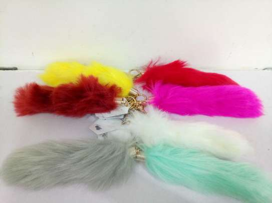Fluffy Tail Key Chains
