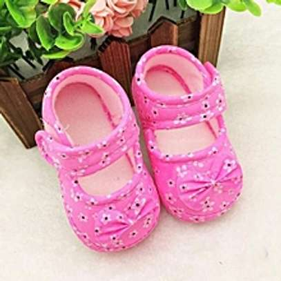 Kids Baby Bowknot Printing Newborn Cloth Shoes PK image 1