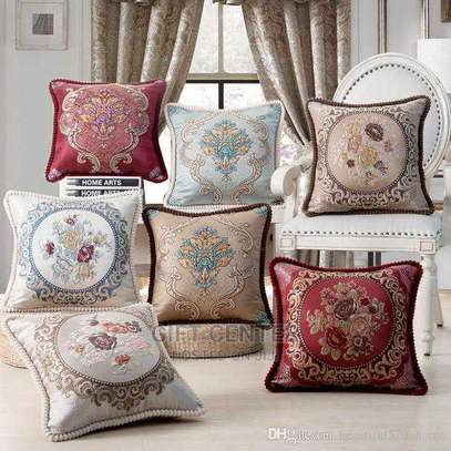 Yellow Geometry Cushion Cover 45x45 Pillow Decorative Cushions For Sofa Flowers Decoration Pillowcover image 3