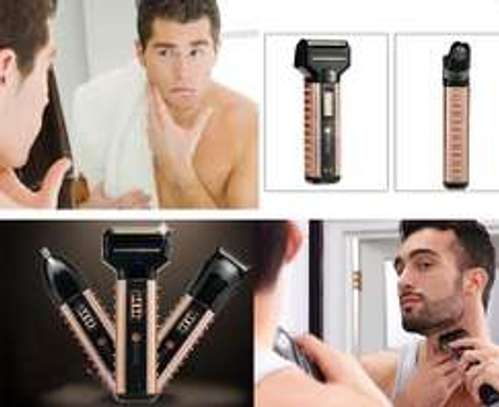 Kemei KM-1120 – 3 in 1 Shaver, Hair Clipper & Nose Trimmer image 2