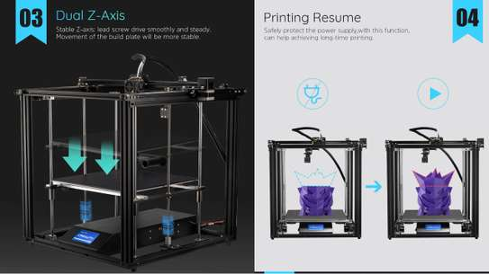 CREALITY Ender-5 Plus 3D Printer; Dual Y-axis Motors; Glass Build Plate; Power off Resume Printing; Masks Enclosed Structure image 5