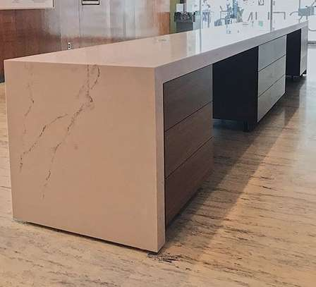 Designed Marble Reception Desk