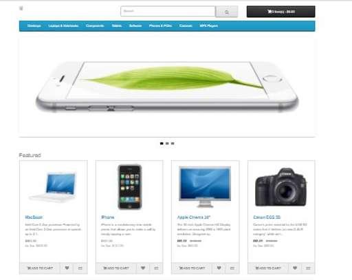 Online Shopping Cart Website image 1