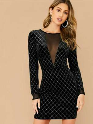 Black Long Sleeved Sheath Dress