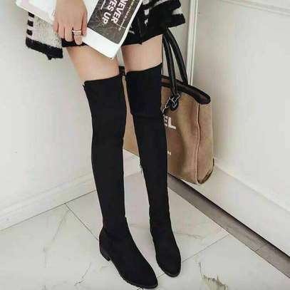 Black Ladies Over The Knee Boots